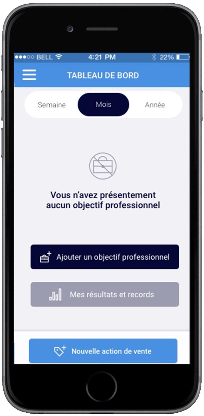 TopCloser - Nouvel objectif professionnel
